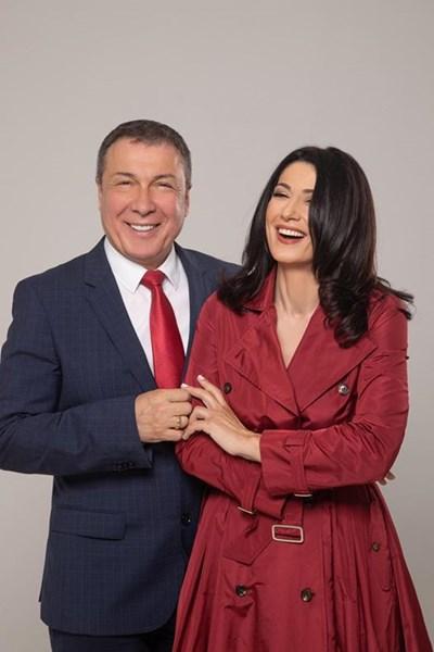 Кметът Николай Димитров със съпругата си Нури