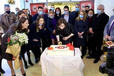 Корнелия Нинова бе на втория рожден ден на телевизията. Снимка БСП