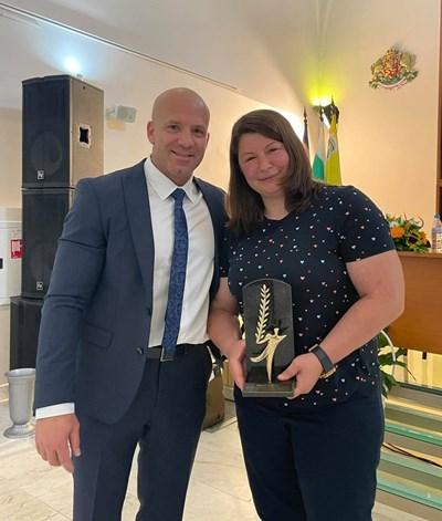 Енчо Керязов си пусна тази снимка със Станка Златева