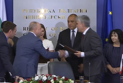 """Булгартрансгаз"" и саудитското обединение ""Консорциум Аркад"" подписаха договор за ""Балкански поток"" в присъствието на премиера Бойко Борисов"