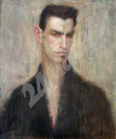 Автопортрет на художника Иван Ненов СНИМКА: 24 часа