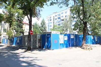 Това е имотът, на който ще се строи жилищна сграда. Снимка Леман Сали