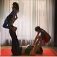 Славена Вътова тренира с децата си