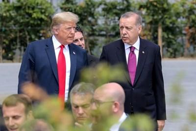 Доналд Тръмп и Реджеп Тайип Ердоган Снимка: Ройтерс