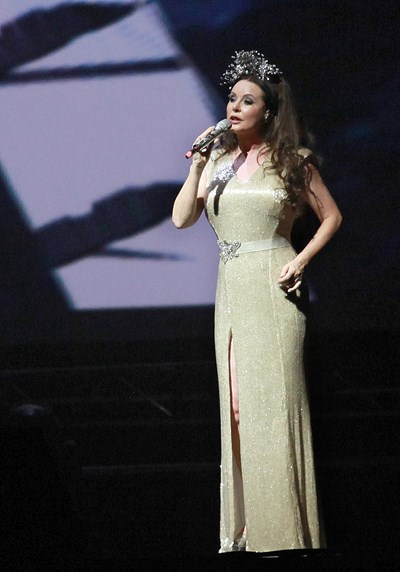 Сара Брайтман перз 2014 г., когато пя в България.
