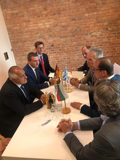 Премиерът Борисов и финансовият министър Владислав Горанов разговарят с домакините си в Берлин.