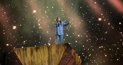Виктория на втората си репетиция на сцената на Евровизия, която бе днес