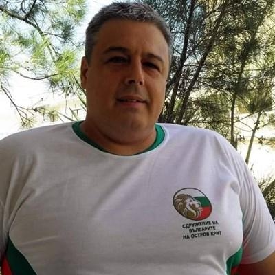 Петър Анастасов, председател на дружеството на о. Крит