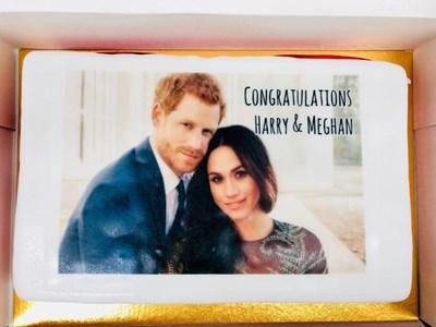 Една от тортите за сватбеното парти Меган и Хари Снимки: Ройтерс
