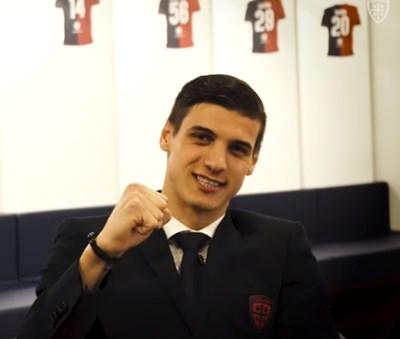Кирил Десподов Кадър: Фейсбук (Cagliari Calcio)