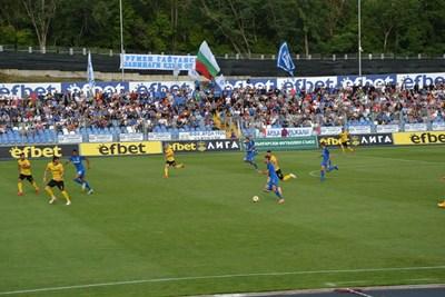 """Първият мач на """"Арда"""" в големия футбол беше с """"Ботев"""" (Пловдив) и завърши без вкаран гол."""