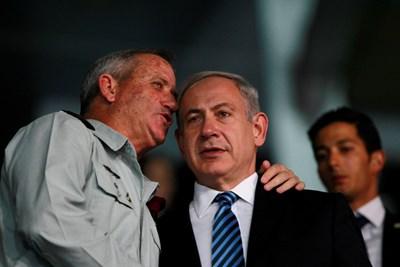 Бени Ганц и Бенямин Нетаняху СНИМКА: Ройтерс