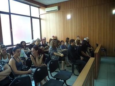 Съдебната зала бе пълна с колеги и приятели на убитата Милена СНИМКА: Анелия Перчева