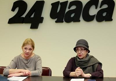 """Екоминистърките Нона Караджова (вляво) и Евдокия Манева пред """"24 часа"""""""