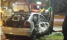 Очевидец за катастрофата със загинал полицай: Патрулката е виновна. Тя се блъсна в таксито заради висока скорост