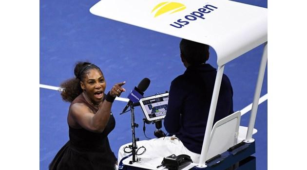 Глобиха Серина Уилямс със 17 000 долара заради скандала на финала на US Open