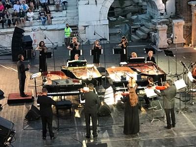 Концертът на 4-те рояла в Античния театър в Пловдив СНИМКА: Авторът