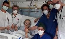 95-годишна италианка надви коронавируса и стана символ на болница