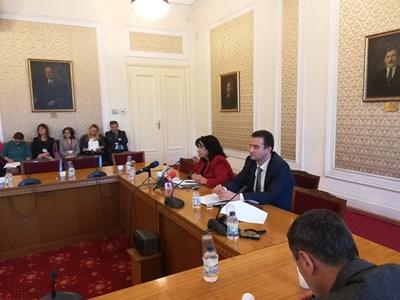 """Енергийният министър Теменужка Петкова представи част от възможните мерки, свързани с ТЕЦ """"Марица-изток 2"""", пред ресорната комисия. СНИМКА: Мария Милкова"""