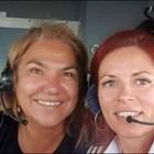 Марта Вачкова в пилотскатакабина на път за Варна