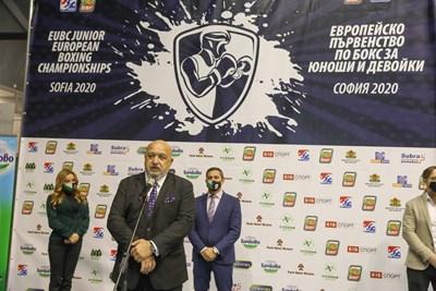 Министърът на младежта и спорта Красен Кралев откри Европейското първенство по бокс за юноши и девойки.