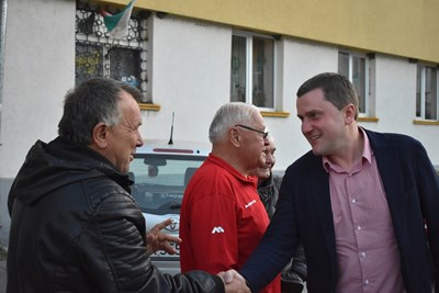 Станислав Владимиров на среща в село Мещица