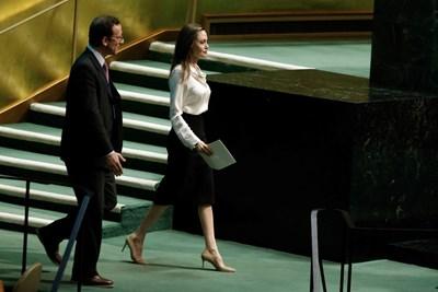Анджелина Джоли на министерска среща в централата на ООН СНИМКИ: РОЙТЕРС