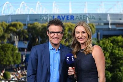На снимката: Матс Виландер и Барбара Шет Източник: Евроспорт