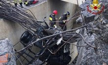 Виадуктът в Генуа рухнал заради скъсан тирант, според хипотезата