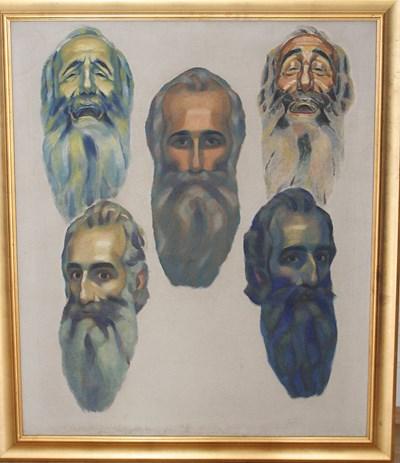 Владимир Димитров-Майстора се е рисувал в различни състояния.