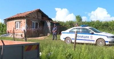 Къщата, в която е открито тялото на 7-годишно момиче в Ковачевци КАДЪР: bTV