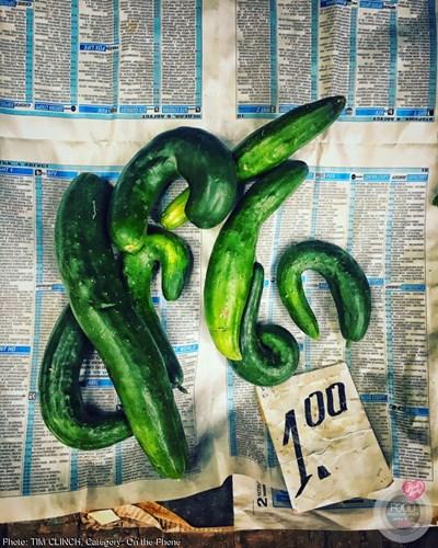 Това са краставиците, заснети най-вероятно на пазара в Горна Оряховица. СНИМКА: Фейсбук