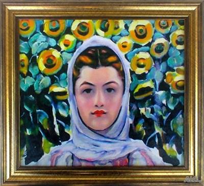 """""""Мома със слънчогледи"""" от Владимир Димитров-Майстора - най-прекрасният букет за медиците, убедени са от НГ."""