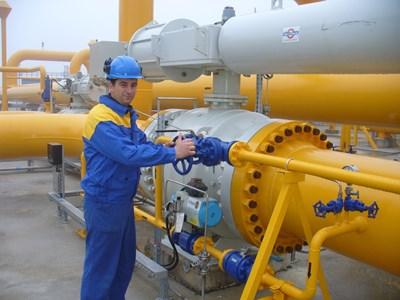 """Модернизираната компресорна станция """"Странджа"""", през която минават 85% от транзитирания газ СНИМКА: """"24 ЧАСА"""""""