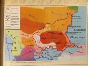Карта на траките и техните съседи през късножелязната епоха, съставена от проф. Александър Фол