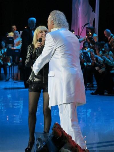 Лили Иванова по време на концерта в Кремъл СНИМКА: ЛИЧЕН АРХИВ