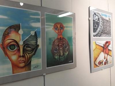 Част от творбите в експозицията
