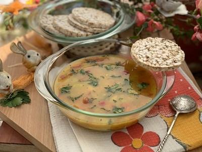 Градинарска супа с овесени ядки