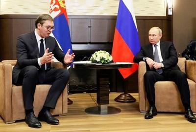 Русия Владимир Путин заяви, че днешните му разговори в Сочи с президента на Сърбия Александър Вучич са били полезни  СНИМКА: РОЙТЕРС
