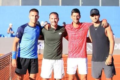 Григор е прегърнал тенисист №1 в света Новак Джокович на турнира в Хърватия.