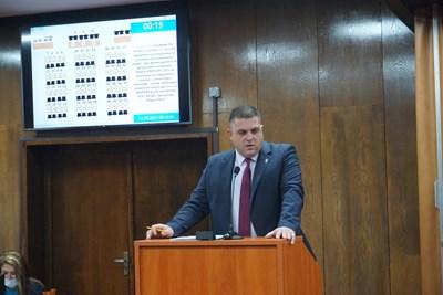 Председателят на Общинския съвет Иво Пазарджиев коментира, че основното негово притеснение е краткият срок, който съветът имаше да вземе решение. Снимка община Русе