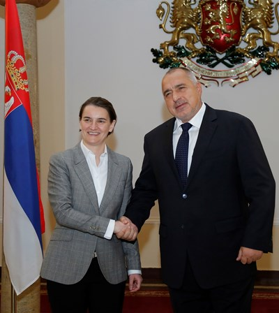Премиерите на Сърбия и България Ана Бърнабич и Бойко Борисов  СНИМКИ: Пресслужба на МС