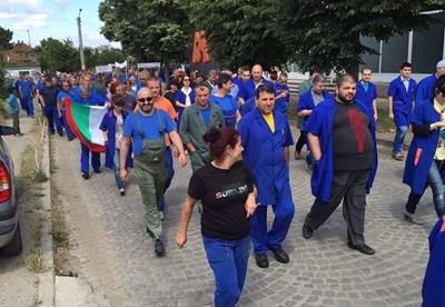 Протестиращи в Казанлък СНИМКИ: Фейсбук