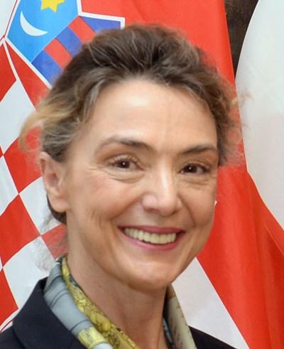 Хърватският министър на външните работи и европейските въпроси Мария Пейчинович Бурич СНИМКА: Уикипедия/Bundesministerium fur Europa, Integration und Au?eres