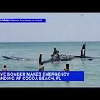 Самолет кацна аварийно на плаж във Флорида (Видео)