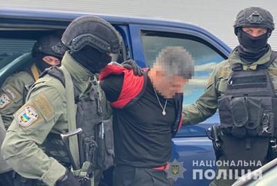 Евелин Банев-Брендо е арестуван на 6 септември близо до Киев.  СНИМКИ: НАЦИОНАЛНА ПОЛИЦИЯ НА УКРАЙНА