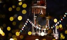 Улиците на Москва в коледна и новогодишна украса