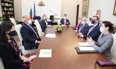 """Премиерът Бойко Борисов разговаря с представителите на """"Локхийд Мартин"""" във вторник."""