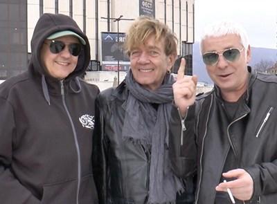 """Основателят на """"Тангра"""" Константин Марков, Йордан Ганчев и Станислав Сланев-Стенли (от ляво на дясно) са ядрото на възродената група. СНИМКА: ЛИЧЕН АРХИВ"""