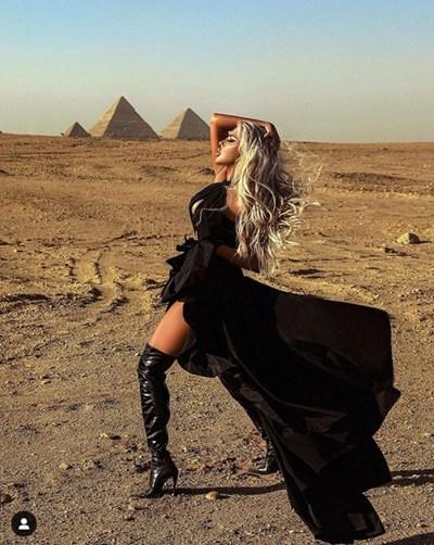 Певицата е в Египет. СНИМКА: ИНСТАГРАМ ПРОФИЛ НА АНДРЕА